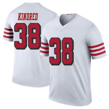 Youth Nike San Francisco 49ers Derrick Kindred White Color Rush Jersey - Legend
