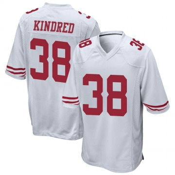 Youth Nike San Francisco 49ers Derrick Kindred White Jersey - Game