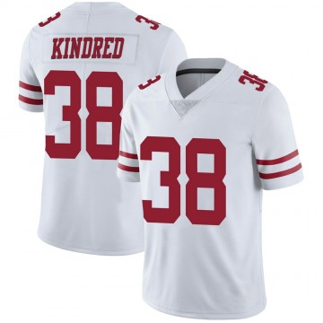Youth Nike San Francisco 49ers Derrick Kindred White Vapor Untouchable Jersey - Limited