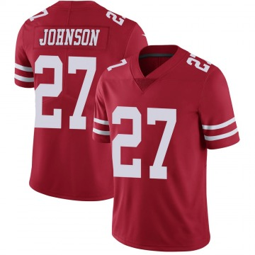 Youth Nike San Francisco 49ers Dontae Johnson Scarlet 100th Vapor Jersey - Limited