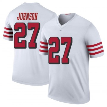 Youth Nike San Francisco 49ers Dontae Johnson White Color Rush Jersey - Legend