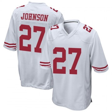Youth Nike San Francisco 49ers Dontae Johnson White Jersey - Game