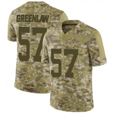 Youth Nike San Francisco 49ers Dre Greenlaw Green Camo 2018 Salute to Service Jersey - Limited