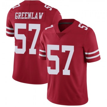 Youth Nike San Francisco 49ers Dre Greenlaw Green Scarlet 100th Vapor Jersey - Limited
