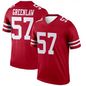 Youth Nike San Francisco 49ers Dre Greenlaw Green Scarlet Jersey - Legend