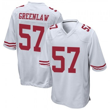 Youth Nike San Francisco 49ers Dre Greenlaw White Jersey - Game