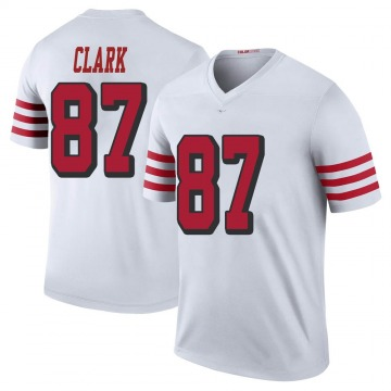Youth Nike San Francisco 49ers Dwight Clark White Color Rush Jersey - Legend