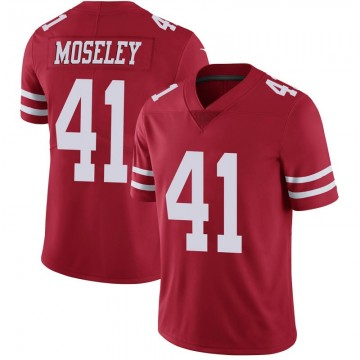 Youth Nike San Francisco 49ers Emmanuel Moseley Scarlet 100th Vapor Jersey - Limited
