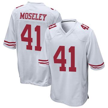 Youth Nike San Francisco 49ers Emmanuel Moseley White Jersey - Game
