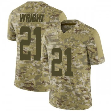 Youth Nike San Francisco 49ers Eric Wright Camo 2018 Salute to Service Jersey - Limited