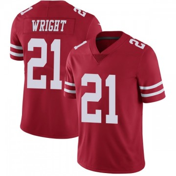 Youth Nike San Francisco 49ers Eric Wright Red Team Color Vapor Untouchable Jersey - Limited