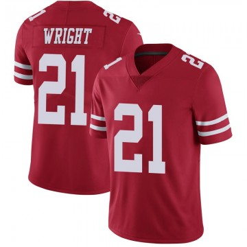 Youth Nike San Francisco 49ers Eric Wright Scarlet 100th Vapor Jersey - Limited