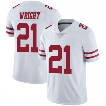 Youth Nike San Francisco 49ers Eric Wright White Vapor Untouchable Jersey - Limited