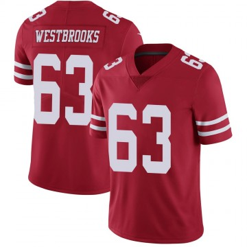 Youth Nike San Francisco 49ers Ethan Westbrooks Scarlet 100th Vapor Jersey - Limited