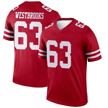Youth Nike San Francisco 49ers Ethan Westbrooks Scarlet Jersey - Legend