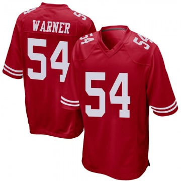 Youth Nike San Francisco 49ers Fred Warner Red Team Color Jersey - Game