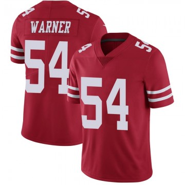 Youth Nike San Francisco 49ers Fred Warner Scarlet 100th Vapor Jersey - Limited