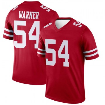 Youth Nike San Francisco 49ers Fred Warner Scarlet Jersey - Legend