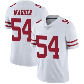 Youth Nike San Francisco 49ers Fred Warner White Vapor Untouchable Jersey - Limited