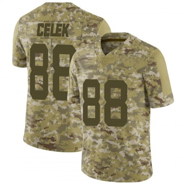 Youth Nike San Francisco 49ers Garrett Celek Camo 2018 Salute to Service Jersey - Limited