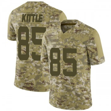 Youth Nike San Francisco 49ers George Kittle Camo 2018 Salute to Service Jersey - Limited