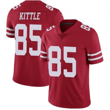 Youth Nike San Francisco 49ers George Kittle Scarlet 100th Vapor Jersey - Limited