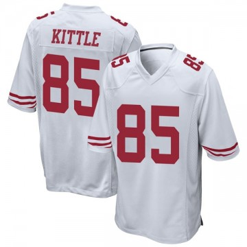 Youth Nike San Francisco 49ers George Kittle White Jersey - Game