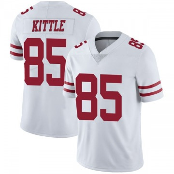 Youth Nike San Francisco 49ers George Kittle White Vapor Untouchable Jersey - Limited