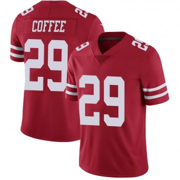 Youth Nike San Francisco 49ers Glen Coffee Coffee Scarlet 100th Vapor Jersey - Limited