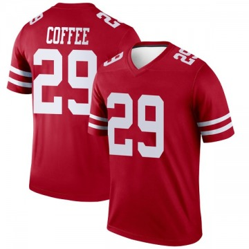 Youth Nike San Francisco 49ers Glen Coffee Coffee Scarlet Jersey - Legend