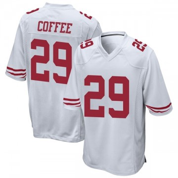Youth Nike San Francisco 49ers Glen Coffee Coffee White Jersey - Game