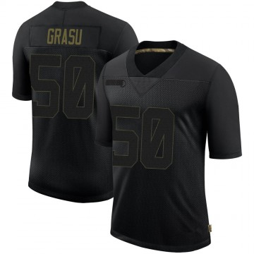 Youth Nike San Francisco 49ers Hroniss Grasu Black 2020 Salute To Service Jersey - Limited