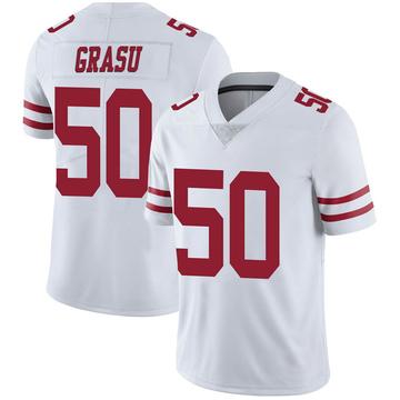 Youth Nike San Francisco 49ers Hroniss Grasu White Vapor Untouchable Jersey - Limited