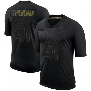 Youth Nike San Francisco 49ers Jacob Thieneman Black 2020 Salute To Service Jersey - Limited