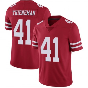 Youth Nike San Francisco 49ers Jacob Thieneman Scarlet 100th Vapor Jersey - Limited