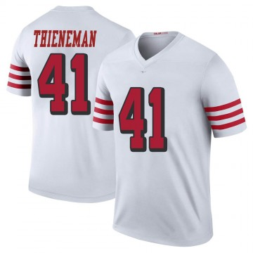 Youth Nike San Francisco 49ers Jacob Thieneman White Color Rush Jersey - Legend