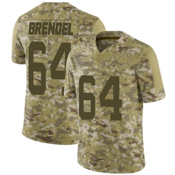 Youth Nike San Francisco 49ers Jake Brendel Camo 2018 Salute to Service Jersey - Limited