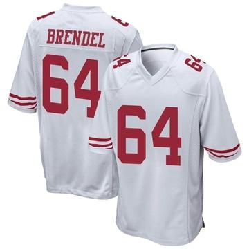 Youth Nike San Francisco 49ers Jake Brendel White Jersey - Game