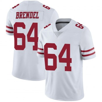 Youth Nike San Francisco 49ers Jake Brendel White Vapor Untouchable Jersey - Limited