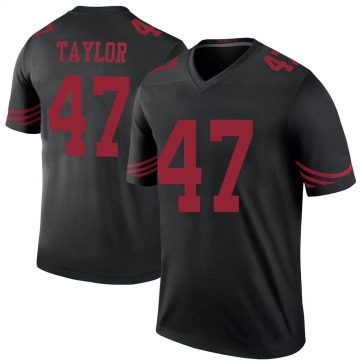 Youth Nike San Francisco 49ers Jamar Taylor Black Color Rush Jersey - Legend