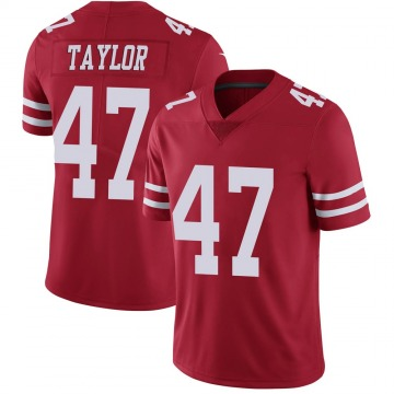 Youth Nike San Francisco 49ers Jamar Taylor Scarlet 100th Vapor Jersey - Limited