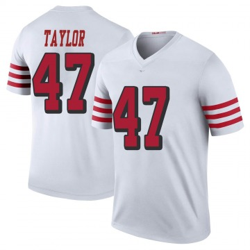 Youth Nike San Francisco 49ers Jamar Taylor White Color Rush Jersey - Legend