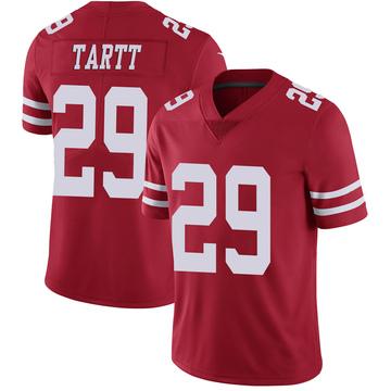 Youth Nike San Francisco 49ers Jaquiski Tartt Scarlet 100th Vapor Jersey - Limited