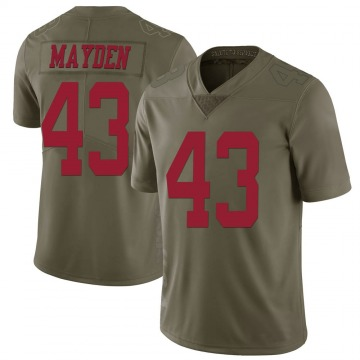 Youth Nike San Francisco 49ers Jared Mayden Green 2017 Salute to Service Jersey - Limited