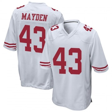 Youth Nike San Francisco 49ers Jared Mayden White Jersey - Game