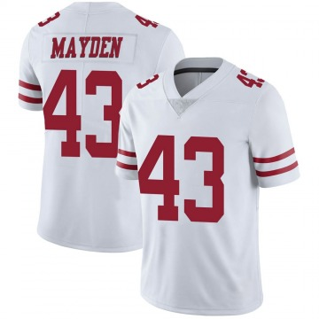 Youth Nike San Francisco 49ers Jared Mayden White Vapor Untouchable Jersey - Limited