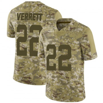 Youth Nike San Francisco 49ers Jason Verrett Camo 2018 Salute to Service Jersey - Limited