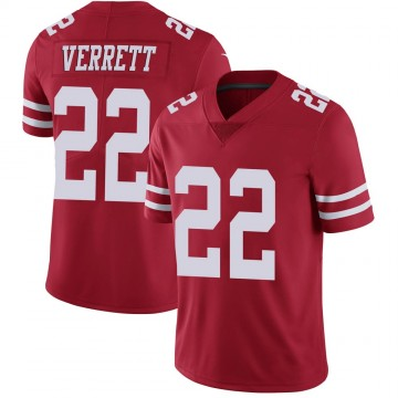 Youth Nike San Francisco 49ers Jason Verrett Scarlet 100th Vapor Jersey - Limited