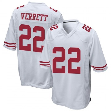 Youth Nike San Francisco 49ers Jason Verrett White Jersey - Game