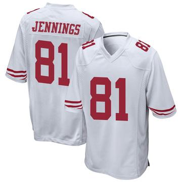 Youth Nike San Francisco 49ers Jauan Jennings White Jersey - Game